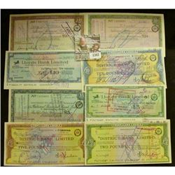 1347 _ (8) Different British Travellers' Cheque. All cancelled and near Crisp Uncirculated.