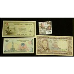 1348 _ (3) different Viet Nam War Era banknotes from Viet Nam, Indochina, & Laos.
