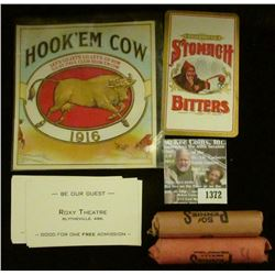 "1372 _ ""Hook'em Cow Let's Go, Let's Go, Let's Go Now 1916"", 1916 St. Paul Cigar Box Art; Quack Docto"