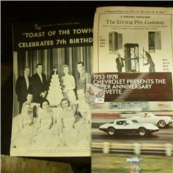 "1394 _ ""Lincoln-Mercury Dealer's Souvenir Folder ""Toast of the Town"" Celebrates 7th Birthday""; ""1953"
