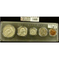 1400 _ 1955 Year Set of U.S. Coins, Brilliant Uncirculated to EF, and stored in a Snaptight Case.