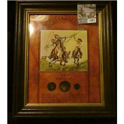 1423 _ The Roundup Coin and Picture Set Includes 1900 Barber Quarte