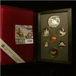 1430 _ 1989 Royal Canada Mint Double Dollar Proof Set with Mackenzie River Silver Dollar & C.O.A. Bo