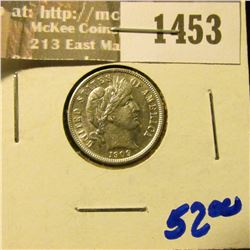1453 _ 1909 P Brilliant Uncirculated Barber Dime.