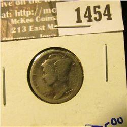 1454 _ Key Date 1921 Mercury Dime.