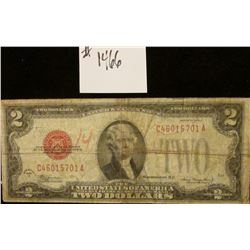 1466 _ Series 1928 D U.S. Note Two Dollar Red Seal.