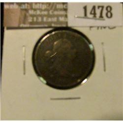 1478 _ 1804 U.S. Half Cent, Fine.