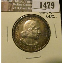1479 _ 1893 Columbian Exposition Commemorative Half Dollar, toned Uncirculated.