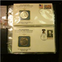 "1495 _ ""The Eisenhower U.S. Dollar Coin Collection"", by Postal Commemorative Society, all stamped, p"