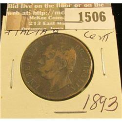 1506 _ 1893 Italy 10 Centesimi, Fine.