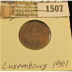 1507 _ 1901 Luxembourg 2 1/2 Centimes, EF.