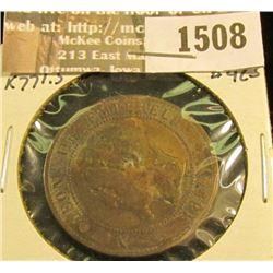 1508 _ 1854 France 10 Centimes, KM 771.5, Fine. Semi-keydate.