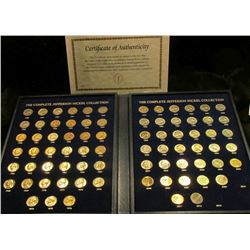 "1529 _ ""The Complete Jefferson Nickel Collection"" in a special album, this is a One a Year only set"