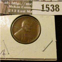 1538 _ 1921 S Lincoln Cent. Fine.