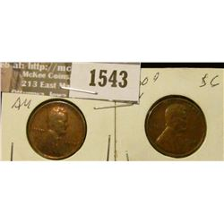 1543 _ 1930 P AU/VG & 1930 D Brown AU  Lincoln Cent