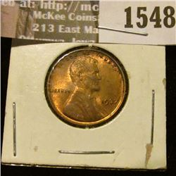 1548 _ 1937 P U.S. Lincoln Cent, Red Uncirculated.