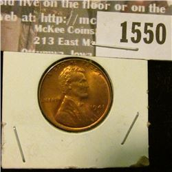 1550 _ 1941 D U.S. Lincoln Cent, Red Uncirculated.