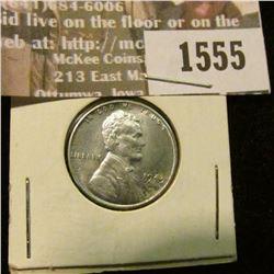 1555 _ 1943 P World War II Steel Cent, Gem BU.