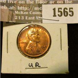 1565 _ 1947 S U.S. Lincoln Cent, Brilliant Uncirculated.