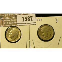 1587 _ 1946 P & 49 S Roosevelt Dimes.