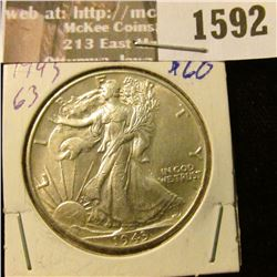 1592 _ 1943 P Walking Liberty Half Dollar,