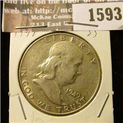 1593 _ 1949 D Franklin Half Dollar.