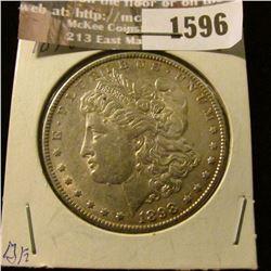 1596 _ 1898 P Morgan Silver Dollar.