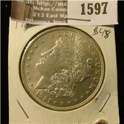 1597 _ 1921 P Morgan Silver Dollar.