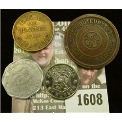 1608 _ 30mm Automatiques Distributers Same Design Both Sides Token, Einkauf Von Juwelen Altem Gold &
