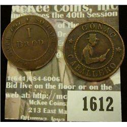 1612 _ 25mm Conac Caballero, Manzanilla Macarena Token & 25mm 1817 So HabtIhr in Der Noth 1 Brod, 18