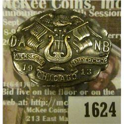 1624 _ 1913 DANB Volksfest Kinderchor Chicago Pinback.