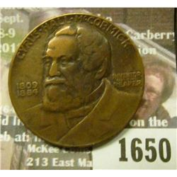 1650 _ 1831-1931 Cyrus McCormick Medal,Centennial of the Reaper.