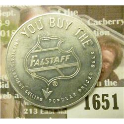 1651 _ Falstaff Brewing Corp. Aluminum Spinner.