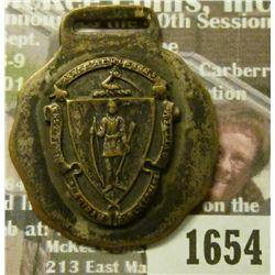 1654 _ Massachusetts Seal Watch Fob.