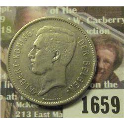 1659 _ 1931 Belgium 5 Francs.