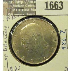 1663 _ 1938 G Sweden Silver 2 Kronor.
