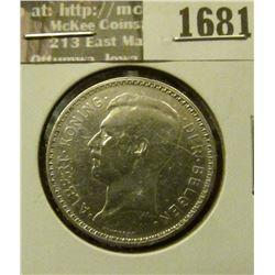 1681 _ 1934 Belgium 20 Francs.