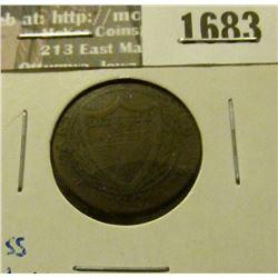 1683 _ 1806 Swiss Canton Copper 1/2 Batz, 5-Rap.