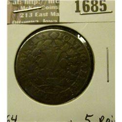 1685 _ 1764 Portugal Copper 5-Reis.