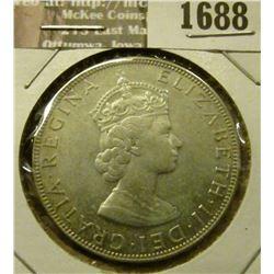 1688 _ 1964 Bermuda Slver Crown. Unc.