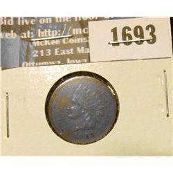 1693 _ 1903 Indian Head Cent. AU-50.
