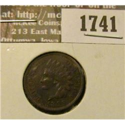 1741 _ 1889 Indian Head Cent. AU-50.
