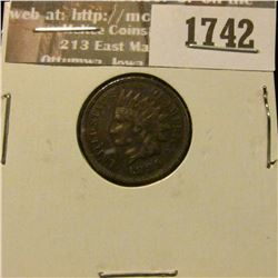 1742 _ 1889 Indian Head Cent. EF-40.
