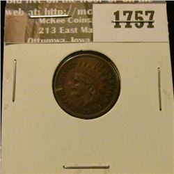 1757 _ 1885 Indian Head Cent VF-20.
