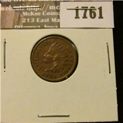 1761 _ 1884 Indian Head Cent. VF-20.