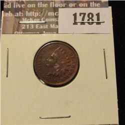 1781 _ 1880 Indian Head Cent. F-12.