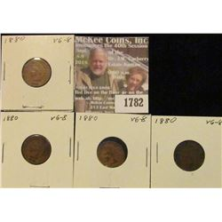 1782 _ (4) 1880 Indian Head Cents. VG-8.