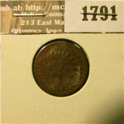 1791 _ 1878 Indian Head Cent. VG-4.