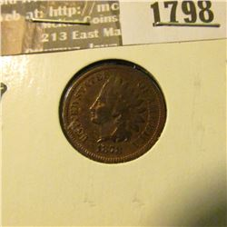 1798 _ 1878 Indian Head Cent. VG-8.