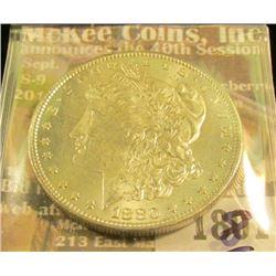 1801 _ 1880 P U.S. Morgan Silver Dollar, Brilliant Uncirculated.